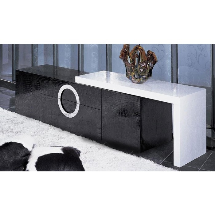 Remarkable Best Black Modern TV Stands Within Aaa523 180 Armani Xavira Modern Lacquer Crocodile Texture Tv Stand (Image 32 of 50)