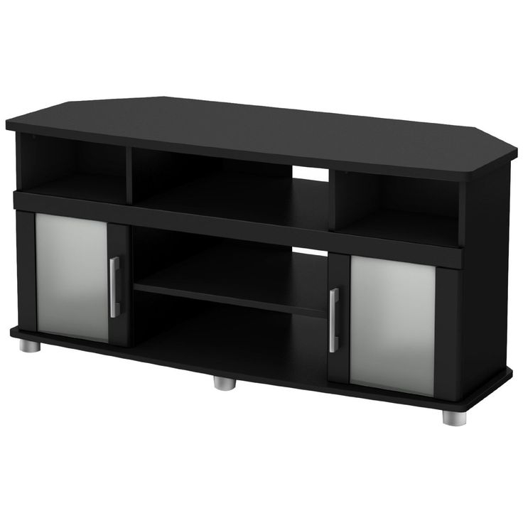 Remarkable Best Black TV Stands With Glass Doors For Best 25 Black Corner Tv Stand Ideas On Pinterest Small Corner (Image 30 of 50)