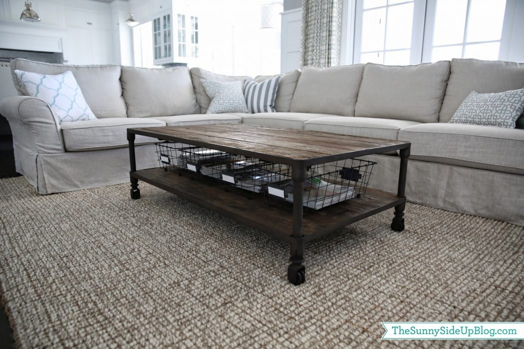 Remarkable Best Coffee Tables With Basket Storage Underneath With Regard To Coffee Table With Storage Basket Tray Maxresde Thippo (Image 34 of 50)