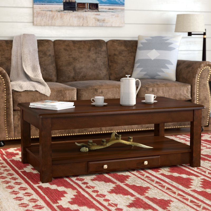 Remarkable Best Coffee Tables With Raisable Top Within Lift Top Coffee Tables Wayfair (View 38 of 50)