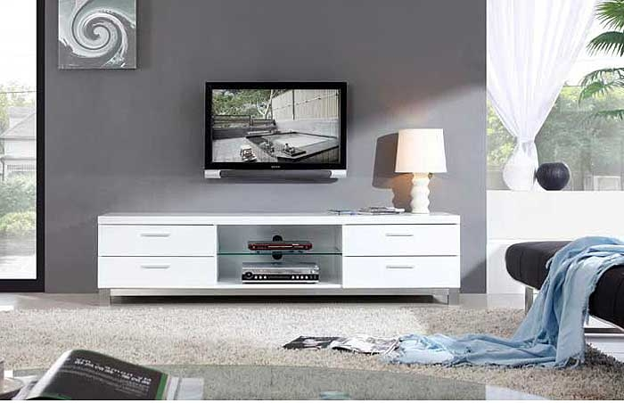 Remarkable Best Contemporary White TV Stands Regarding Modern White Tv Stand Bm3 Tv Stands (Image 43 of 50)