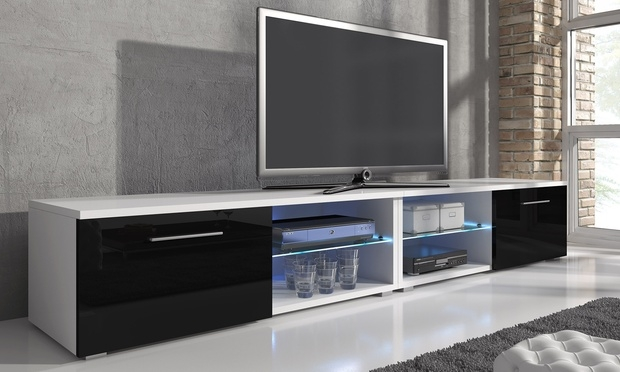 Remarkable Best Led TV Cabinets For Samuel Tv Cabinet With Led Groupon Goods (Image 37 of 50)