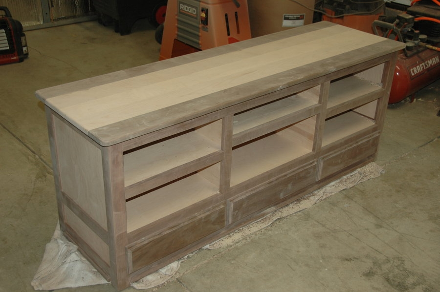 Remarkable Best Maple TV Stands For Flat Screens Inside Walnut Curly Maple Tv Stand Dmoore Lumberjocks (Image 35 of 50)