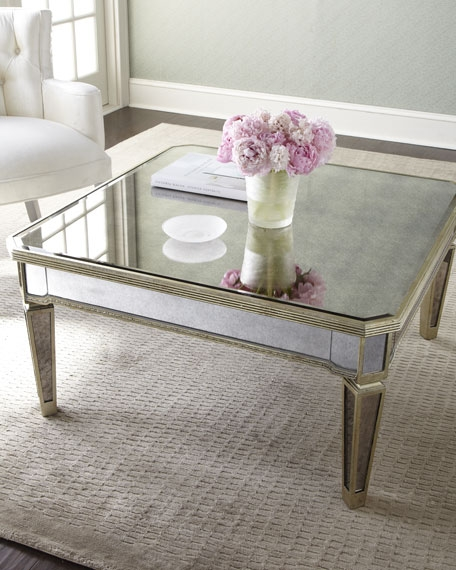 Remarkable Best Mirrored Coffee Tables Regarding Amelie Mirrored Coffee Table (View 2 of 50)