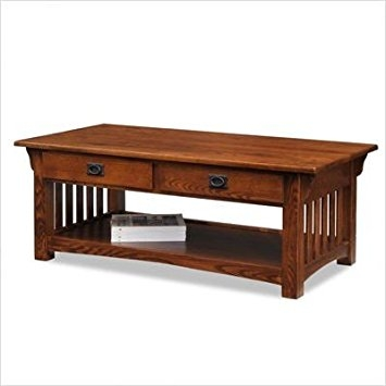 Remarkable Best Oak Coffee Table Sets Within Amazon Leick Furniture Mission 2 Drawer Coffee Table Medium (Image 39 of 50)