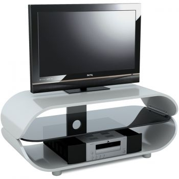 Remarkable Best Oval White TV Stands Regarding High Gloss White Oval Tv Stand For Tvs Upto 60 Inches (Image 40 of 50)