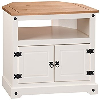 Remarkable Best Painted Corner TV Cabinets Inside Arklow Painted Oak Dovetail Grey Corner Tv Stand Oak Corner Tv (Image 41 of 50)