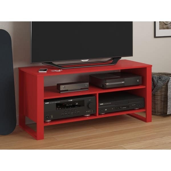 Remarkable Best Red TV Stands Throughout Ameriwood Home Reese Ru Red Tv Stand Free Shipping Today (Image 37 of 50)