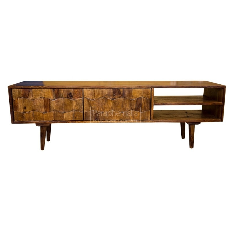 Remarkable Best Sheesham Wood TV Stands In Jali Modern Sheesham Wood Slimtv Stand Jali Tv Stand With A (View 27 of 50)