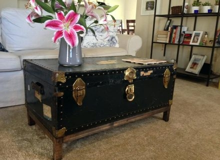 Remarkable Best Steamer Trunk Stainless Steel Coffee Tables Within Steamer Trunk Coffee Table Stainless Steel Home Design And Decor (View 12 of 50)