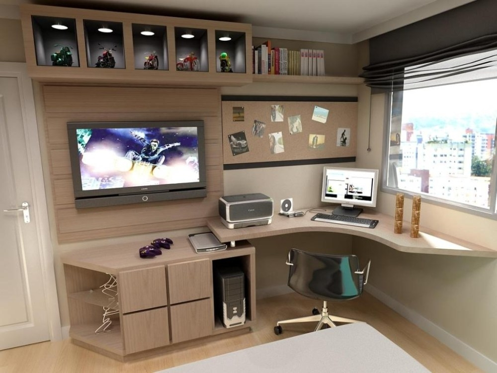 Remarkable Best TV Stands And Computer Desk Combo Within Great Tv Stand And Computer Desk Combo 49 With Additional Awesome (View 4 of 50)