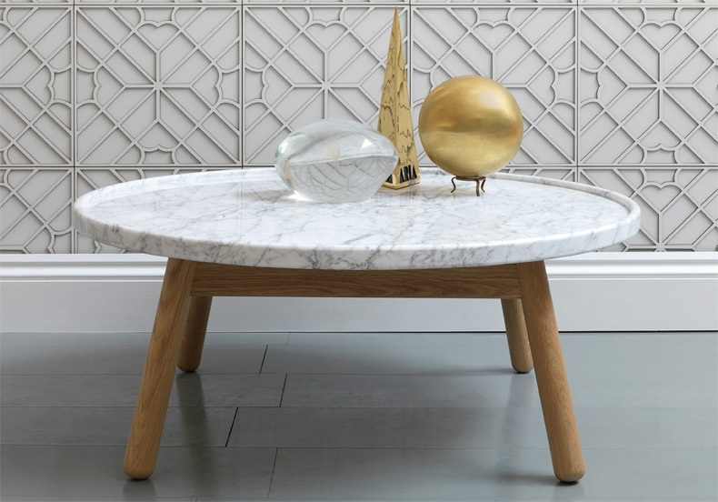Remarkable Best White Marble Coffee Tables Throughout Round Marble Coffee Table (Image 37 of 50)