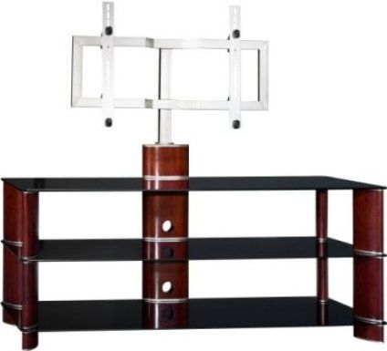 Remarkable Best Wood TV Stands With Swivel Mount Inside Bush Vs11550a 03 Segments Swivel Plasma Tv Stand With Mounting (Image 36 of 50)