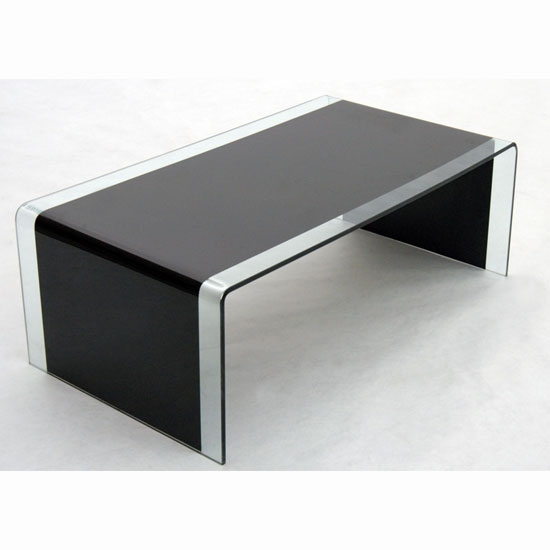 Remarkable Brand New Curved Glass Coffee Tables In Black Glass Coffee Table (Image 37 of 50)