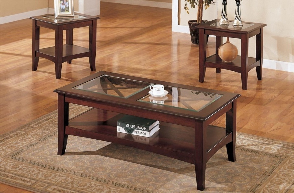 Remarkable Brand New Dark Wood Coffee Tables With Glass Top In Genoa Round Wood Coffee Table With Glass Top In Dark Espresso All (Image 36 of 50)