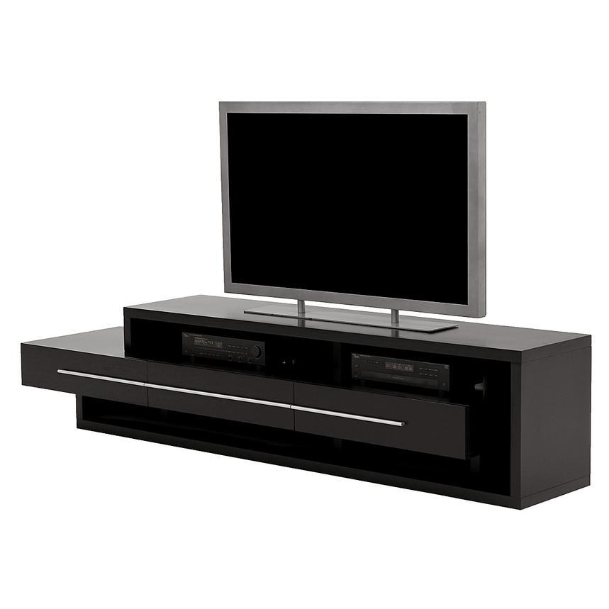 Remarkable Brand New Dark Wood TV Stands Inside Avanti Dark Oak Tv Stand El Dorado Furniture (View 6 of 50)