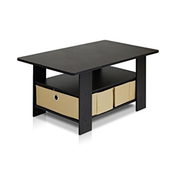 Remarkable Brand New Espresso Coffee Tables Inside Amazon Furinno 11158exbr Coffee Table With Bins Espresso (View 17 of 50)