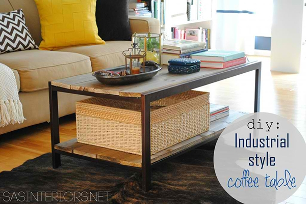 Remarkable Brand New Industrial Style Coffee Tables Inside 20 Amazing Ways To Diy A Coffee Table Home Design Lover (View 38 of 50)