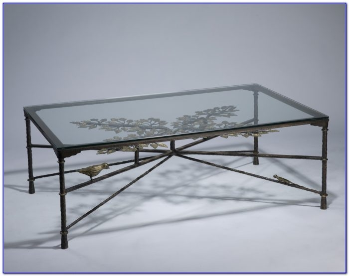 Remarkable Brand New Iron Glass Coffee Table With Coffee Table Wrought Iron Glass Coffee Table Home Furniture (View 42 of 50)
