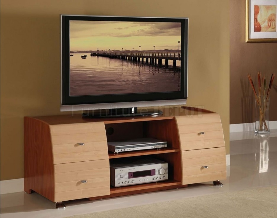 Remarkable Brand New Maple TV Stands Throughout Tv Stands Awesome Dark Solid Cherry Wood Tv Stand Ideas (Image 41 of 50)