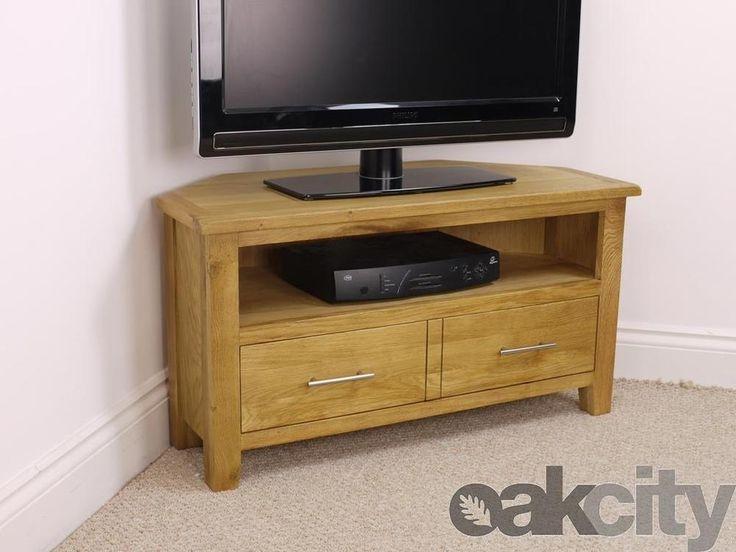 Remarkable Brand New Oak Veneer TV Stands With Best 25 Oak Corner Tv Stand Ideas On Pinterest Corner Tv (Image 41 of 50)