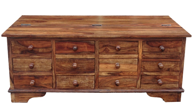 Remarkable Brand New Sheesham Coffee Tables Intended For 12 Drawer Coffee Table (View 32 of 50)