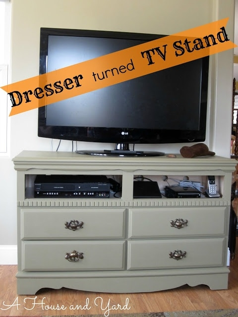 Remarkable Brand New Small TV Stands For Top Of Dresser Within Best 25 Dresser Tv Ideas On Pinterest Dresser Tv Stand Painted (Image 36 of 50)