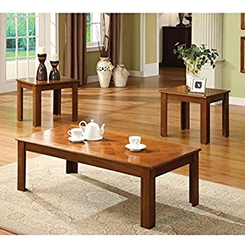 Remarkable Brand New Square Oak Coffee Tables Intended For Amazon Town Square Oak Finish Coffee Table And End Table Set (View 26 of 50)