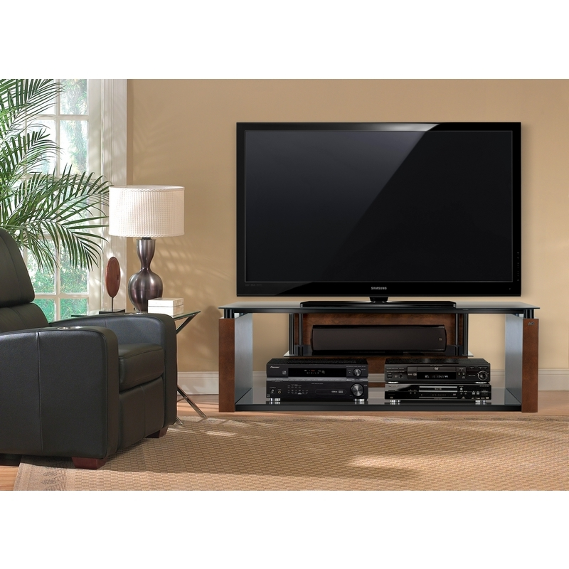 Remarkable Common Contemporary Black TV Stands Intended For Bello Avsc2155 60 Contemporary Flat Panel Tv Stand In Espresso (View 36 of 50)