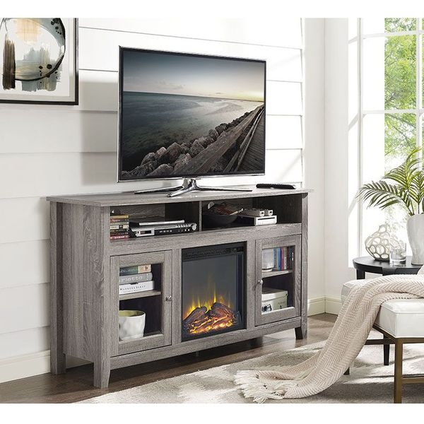 Remarkable Common Grey Wood TV Stands Inside Best 20 Fireplace Tv Stand Ideas On Pinterest Stuff Tv Outdoor (Image 41 of 50)