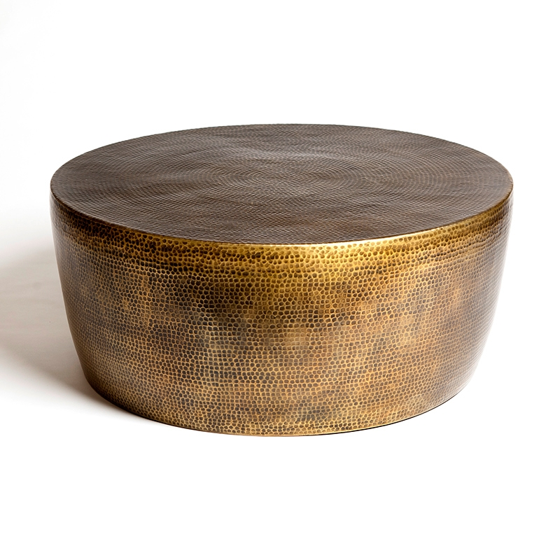Remarkable Common Hammered Silver Coffee Tables With Regard To Round Bronze Coffee Table Idi Design (Image 38 of 50)