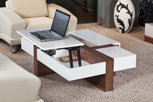 Remarkable Common Modern Coffee Tables Pertaining To Koryo Coffee Table With Lift Top Modern Coffee Tables (Image 29 of 40)