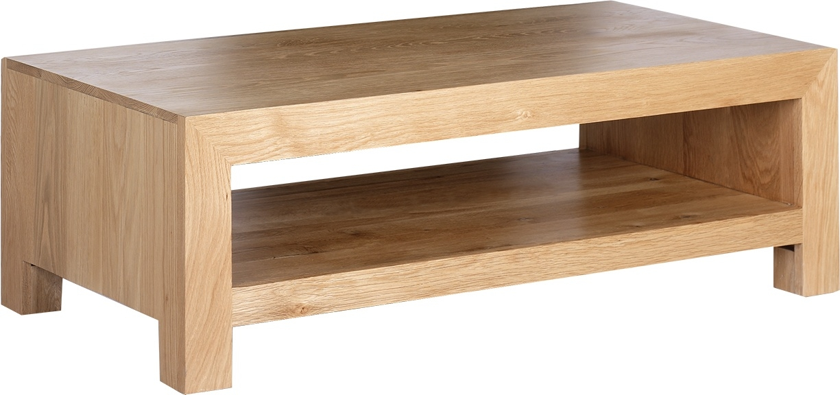 Remarkable Common Oak Coffee Tables With Shelf Inside Oak Living Room Tables Collection In Oak Coffee Table Square (Image 30 of 40)