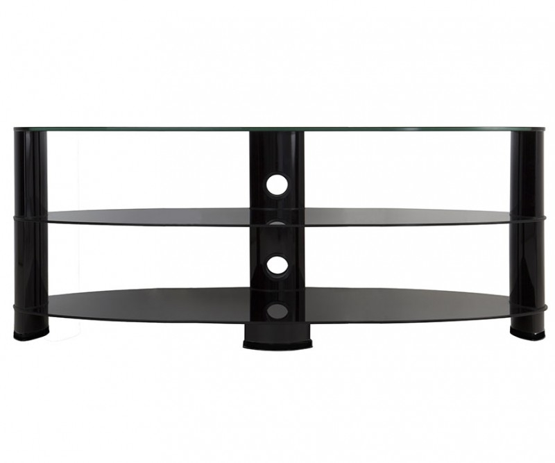 Remarkable Common Oval Glass TV Stands In Ovl1400bb Reflections Oval Glass Tv Stand Tv Stands (View 3 of 50)