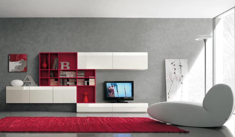 Remarkable Common Red Modern TV Stands Within Red Plastic Tv Wall Mnt Contemporary White Table And Apple Macbook (Image 35 of 50)