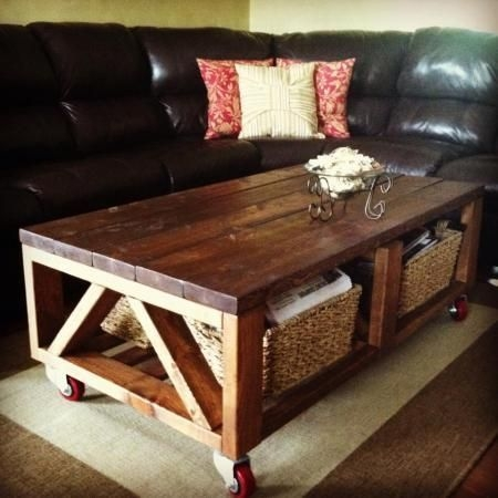 Remarkable Common Rustic Coffee Table With Wheels Pertaining To Best 25 Coffee Table With Wheels Ideas On Pinterest Industrial (Image 40 of 50)
