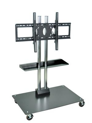 Remarkable Common Tall TV Stands For Flat Screen With Regard To Stationary Or Mobile Flat Panel Tv Stand 50 Thigh Up To 60 Screens (Image 39 of 50)