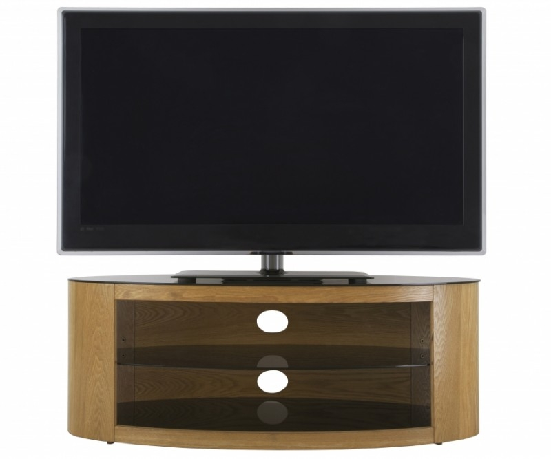 Remarkable Deluxe Black Oval TV Stands Within Tv Stands (Image 35 of 50)