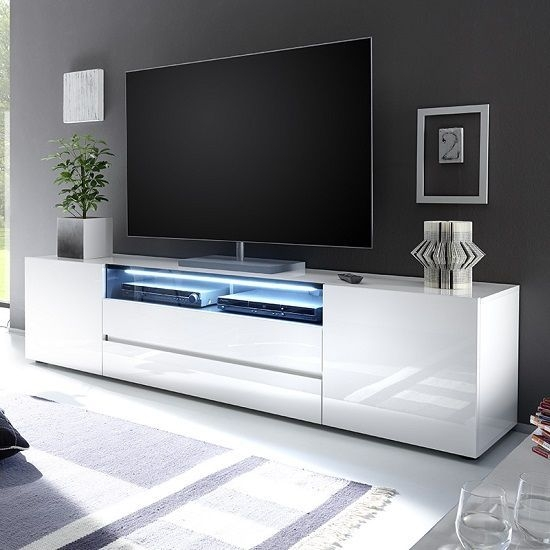 Remarkable Deluxe Black TV Stands With Glass Doors For Best 25 Black Glass Tv Stand Ideas On Pinterest Penthouse Tv (Image 31 of 50)