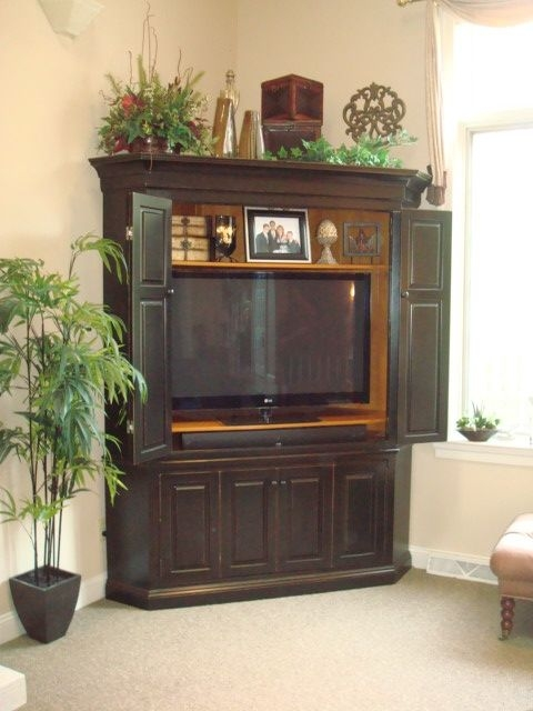 Remarkable Deluxe Cheap Corner TV Stands For Flat Screen Inside 36 Best Entertainment Center Images On Pinterest Corner (View 30 of 50)