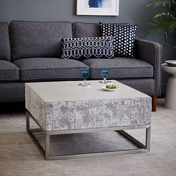 Remarkable Deluxe Chrome Coffee Tables For Concrete Chrome Coffee Table West Elm (Image 39 of 50)