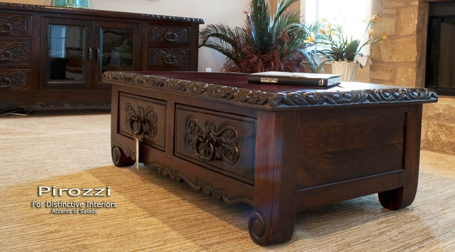 Remarkable Deluxe Colonial Coffee Tables Intended For Carved Wood Coffee Table (Image 36 of 50)