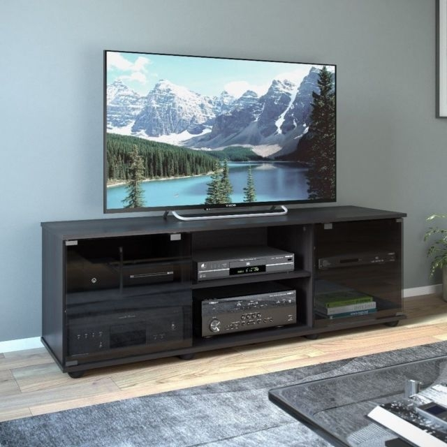 Remarkable Deluxe Contemporary Black TV Stands In Contemporary Tv Stand Ebay (View 14 of 50)