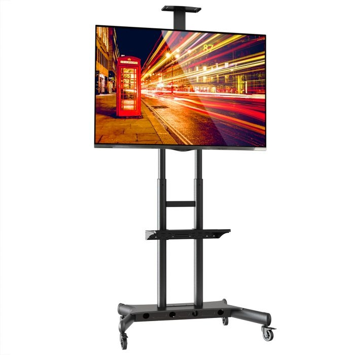 Remarkable Deluxe Easel TV Stands For Flat Screens Intended For Tv Mount Cart (View 38 of 50)