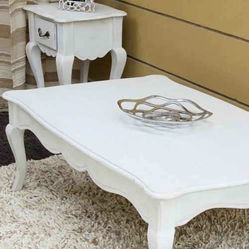 Remarkable Deluxe French White Coffee Tables Regarding Pleasant White Shab Chic Coffee Table In Home Interior Redesign (View 13 of 50)