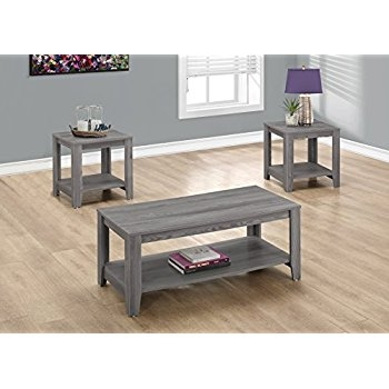 Remarkable Deluxe Grey Coffee Table Sets Regarding Amazon Acme Furniture 83280 Falan Coffee Table Dark Gray (Image 41 of 50)