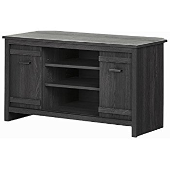 Remarkable Deluxe Grey Corner TV Stands In Amazon South Shore Exhibit Corner Tv Stand For Tvsup To  (Image 41 of 50)