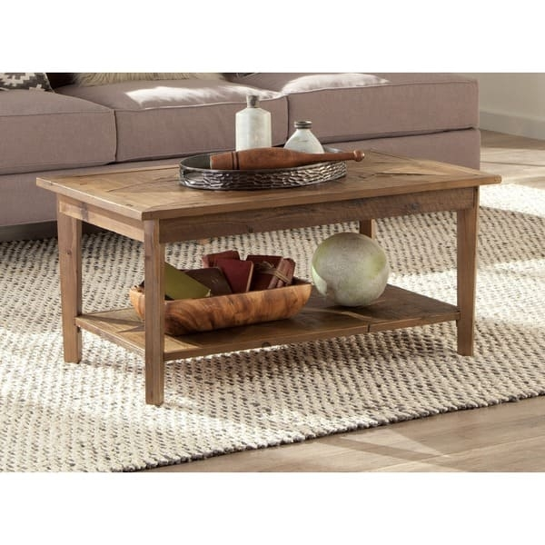 Remarkable Deluxe Heritage Coffee Tables With Regard To Alaterre Heritage Reclaimed Wood Coffee Table Free Shipping (Image 41 of 50)