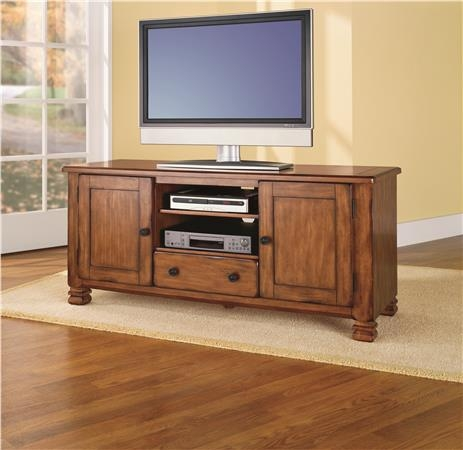 Remarkable Deluxe Oak Veneer TV Stands With Regard To Ameriwood Furniture Summit Mountain Wood Veneer Tv Stand For Tvs (View 23 of 50)