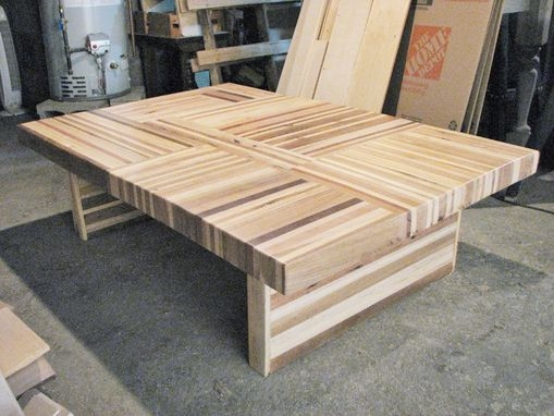 Remarkable Deluxe Puzzle Coffee Tables Inside Buy A Custom Reclaimed Wood Butcher Block Puzzle Table Made To (Image 31 of 40)